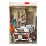 Rescate - dentro de la ambulancia papelería de diseño