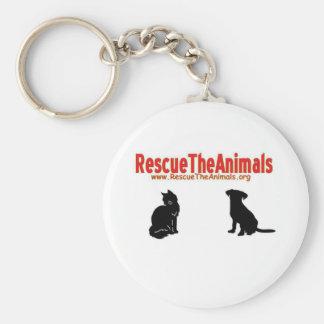 Rescate los animales non-apperal llavero personalizado