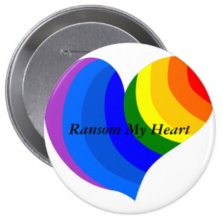 Rescate mi botón de la ayuda del orgullo gay LGBT Pin Redondo De 4 Pulgadas