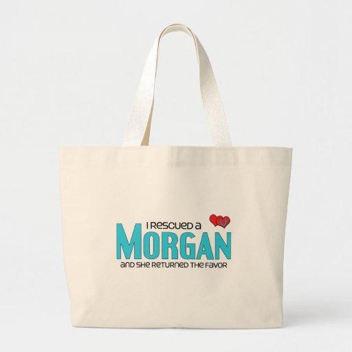 Rescaté Morgan (el caballo femenino) Bolsas Lienzo