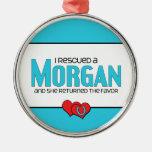 Rescaté Morgan (el caballo femenino) Adorno Para Reyes