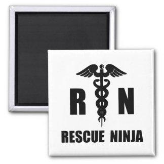 Rescate Ninja Imán Cuadrado