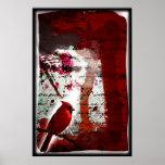 Rescate rojo (arte abstracto cardinal) impresiones