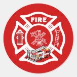 Rescate rojo del coche de bomberos