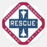Rescate STS-400 Pegatina Redonda