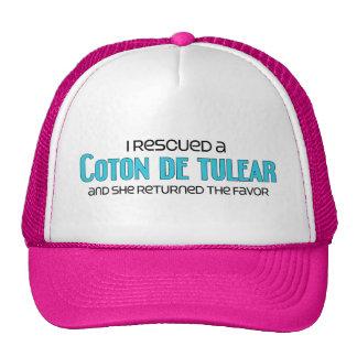 Rescaté un algodón de Tulear (el perro femenino) Gorra