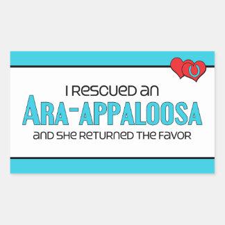 Rescaté un Ara-Appaloosa (el caballo femenino) Rectangular Pegatinas