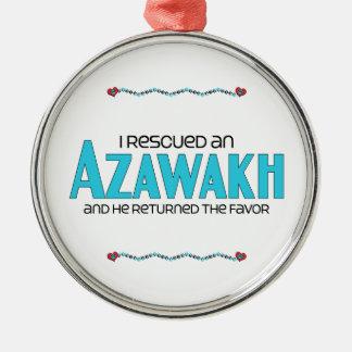 Rescaté un Azawakh el perro masculino Ornamentos Para Reyes Magos