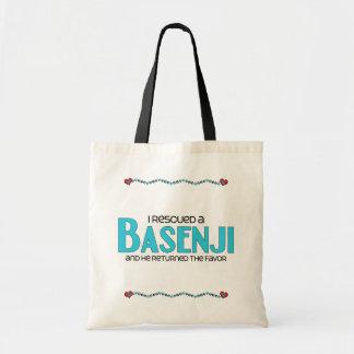 Rescaté un Basenji (el perro masculino) Bolsas De Mano