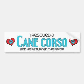 Rescaté un bastón Corso (el perro masculino) Pegatina Para Auto