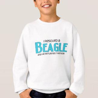 Rescaté un beagle (el perro masculino) sudadera