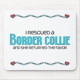 Rescaté un border collie el perro femenino alfombrillas de ratones