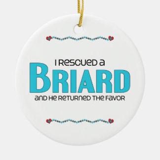 Rescaté un Briard el perro masculino Adornos De Navidad