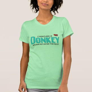 Rescaté un burro el burro femenino camiseta