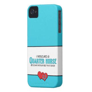 Rescaté un caballo cuarto (el caballo femenino) iPhone 4 Case-Mate cobertura