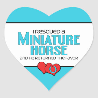 Rescaté un caballo miniatura (el caballo pegatina de corazon personalizadas