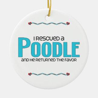 Rescaté un caniche el perro masculino adornos de navidad