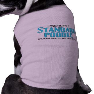 Rescaté un caniche estándar (el perro femenino) playera sin mangas para perro