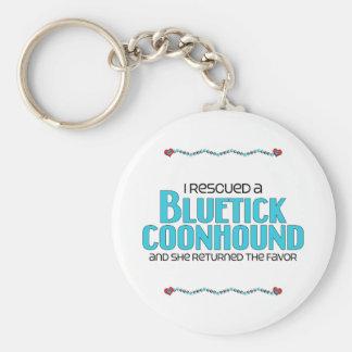 Rescaté un Coonhound de Bluetick (el perro femenin Llavero Redondo Tipo Pin