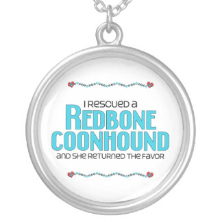 Rescaté un Coonhound de Redbone (el perro femenino Joyerias Personalizadas
