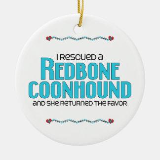 Rescaté un Coonhound de Redbone (el perro femenino Ornato