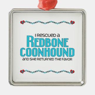 Rescaté un Coonhound de Redbone (el perro femenino Adorno De Reyes