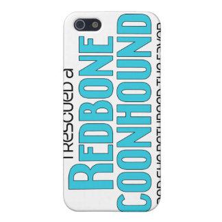 Rescaté un Coonhound de Redbone (el perro femenino iPhone 5 Carcasa