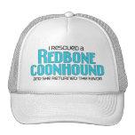 Rescaté un Coonhound de Redbone (el perro femenino Gorras
