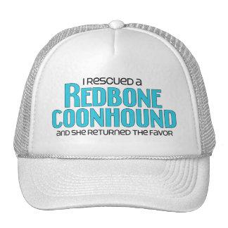 Rescaté un Coonhound de Redbone (el perro femenino Gorras De Camionero