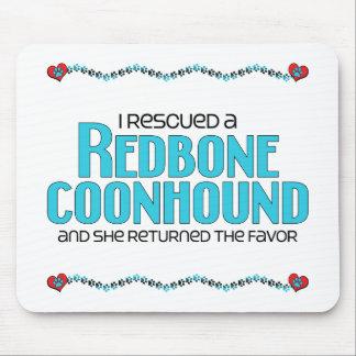 Rescaté un Coonhound de Redbone (el perro femenino Alfombrillas De Ratón
