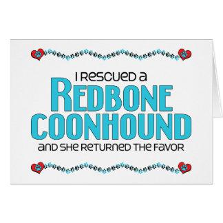 Rescaté un Coonhound de Redbone (el perro femenino Felicitacion