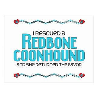 Rescaté un Coonhound de Redbone (el perro femenino Postal