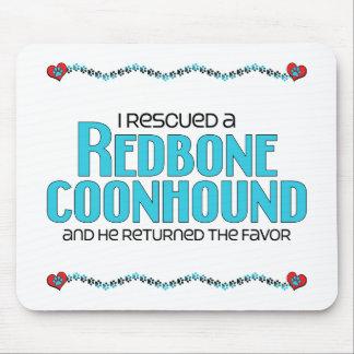 Rescaté un Coonhound de Redbone (el perro masculin Alfombrillas De Raton