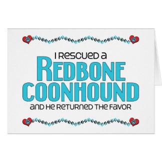 Rescaté un Coonhound de Redbone (el perro masculin Tarjetón