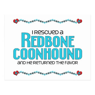 Rescaté un Coonhound de Redbone (el perro masculin Postales