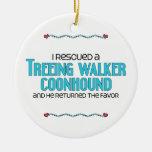 Rescaté un Coonhound del caminante de Treeing (el Ornamento Para Reyes Magos