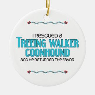 Rescaté un Coonhound del caminante de Treeing el Ornamento Para Reyes Magos