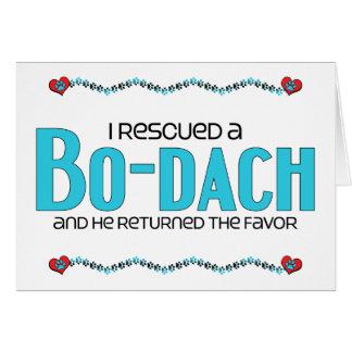 Rescaté un diseño de la adopción del perro BO-Dach Felicitación