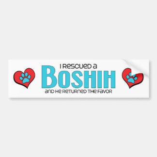 Rescaté un diseño de la adopción del perro de BoSh Pegatina Para Auto