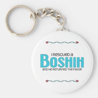 Rescaté un diseño de la adopción del perro de BoSh Llavero Redondo Tipo Pin