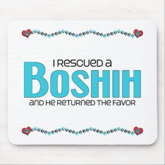 Rescaté un diseño de la adopción del perro de BoSh Alfombrillas De Ratones