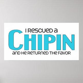 Rescaté un diseño de la adopción del perro de Chip Póster