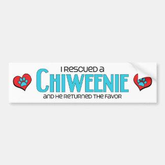 Rescaté un diseño de la adopción del perro de Chiw Pegatina Para Auto