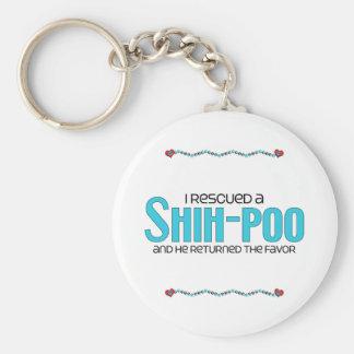 Rescaté un diseño de la adopción del perro de Shih Llavero Redondo Tipo Pin