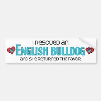 Rescaté un dogo inglés el perro femenino etiqueta de parachoque