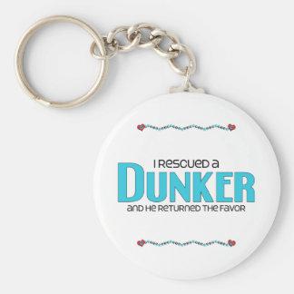 Rescaté un Dunker (el perro masculino) Llavero Redondo Tipo Pin