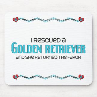 Rescaté un golden retriever (el perro femenino) tapete de ratones