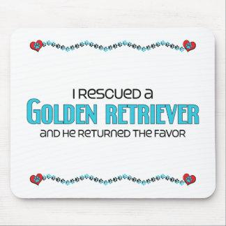 Rescaté un golden retriever (el perro masculino) tapete de ratones