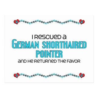 Rescaté un indicador de pelo corto alemán (el tarjeta postal