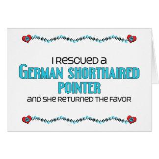 Rescaté un indicador de pelo corto alemán (femenin tarjeta de felicitación